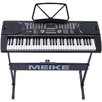 美科多功能电子琴61键智能教学跟弹初学者入门儿童成人仿钢琴键电子琴MK-2089+琴架