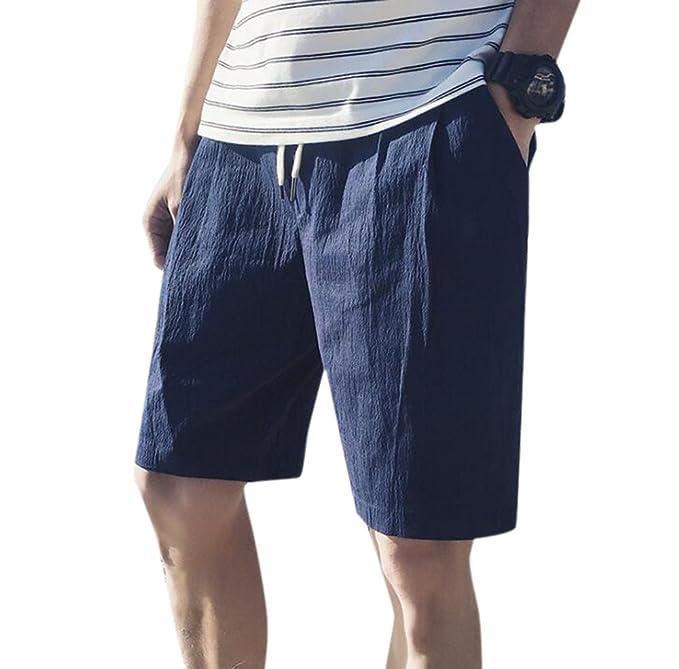 f9d1f8a19f54 Keephen Pantalones Cortos de Algodón para Hombres, Pantalones de ...