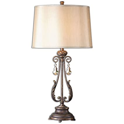 Amazon uttermost 26145 cassia oil rubbed table lamp bronze uttermost 26145 cassia oil rubbed table lamp bronze mozeypictures Image collections