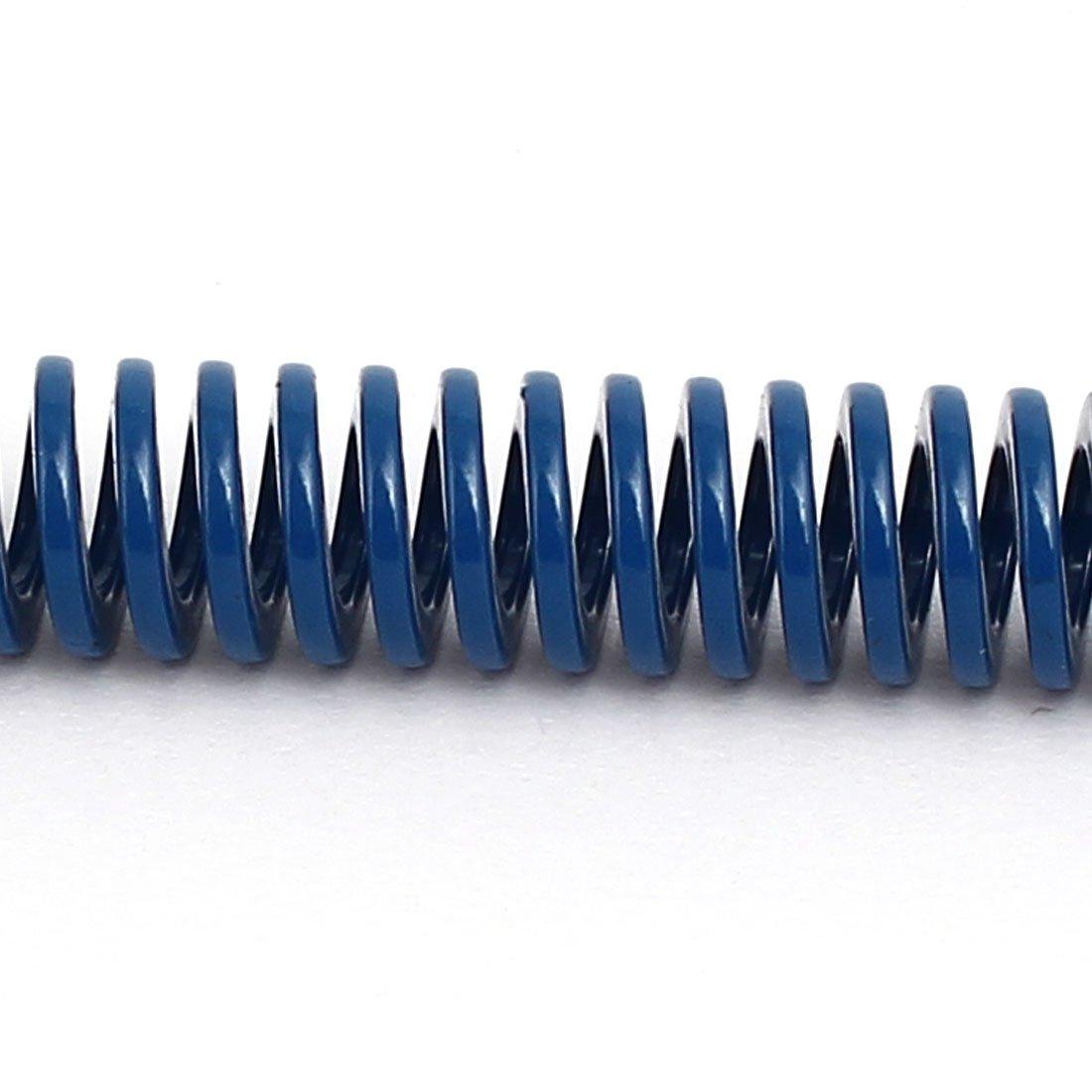 sourcing map 5Stk 8mm Aussendurchmesser 50mm L/änge Leicht Last Kompression Spiralfeder Blau de