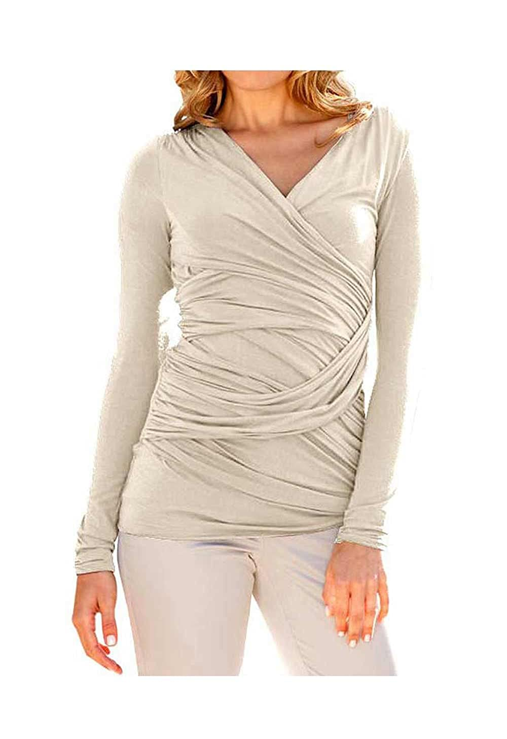Heine Damen-Shirt Wickelshirt Braun Größe 36  Amazon.de  Bekleidung 52a9504003