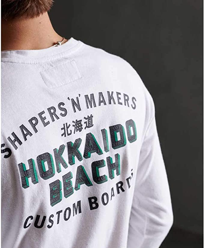 Superdry Shapers N Makers LS Top Camisa Manga Larga para Hombre
