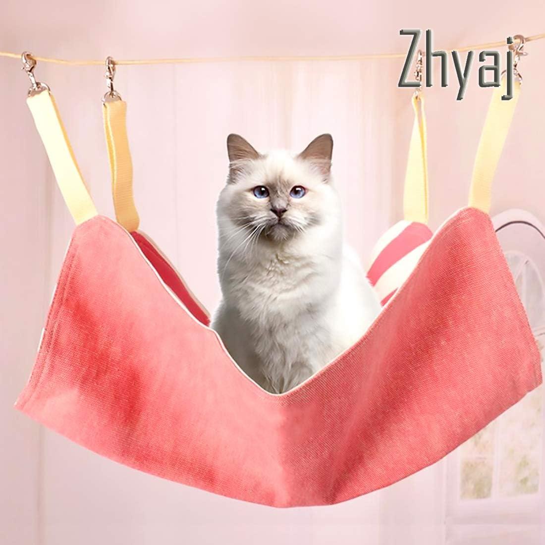 Zhyaj Hamaca Gato Mascota Cama Arena para Gatos Tela Romana El Verano Transpirable,Pink: Amazon.es: Deportes y aire libre