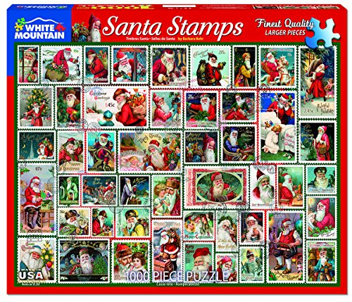 Chipboard Santa (White Mountain Puzzles Santa Stamps - 1000 Piece Jigsaw Puzzle)