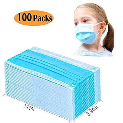 Masks 4-ply pollen Allergy pm2 Flu 5 Cosplay Masks 100pcs Kid's face Anti-dust Medical Children Masks Disposable Masks nurse Non-woven Docotor