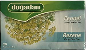 Dogadan Fennel Herbal Tea 20 Tea Bags (Rezene Cayi)