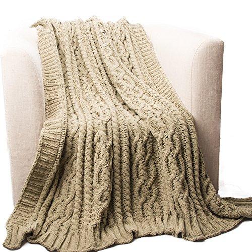Battilo BTL15033-CAMEL Cable Knit - Chenille Cable Knit