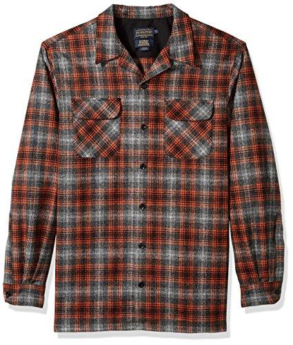 Pendleton Men's Tall Size Long Sleeve Board Shirt, Marled Plaid, LG