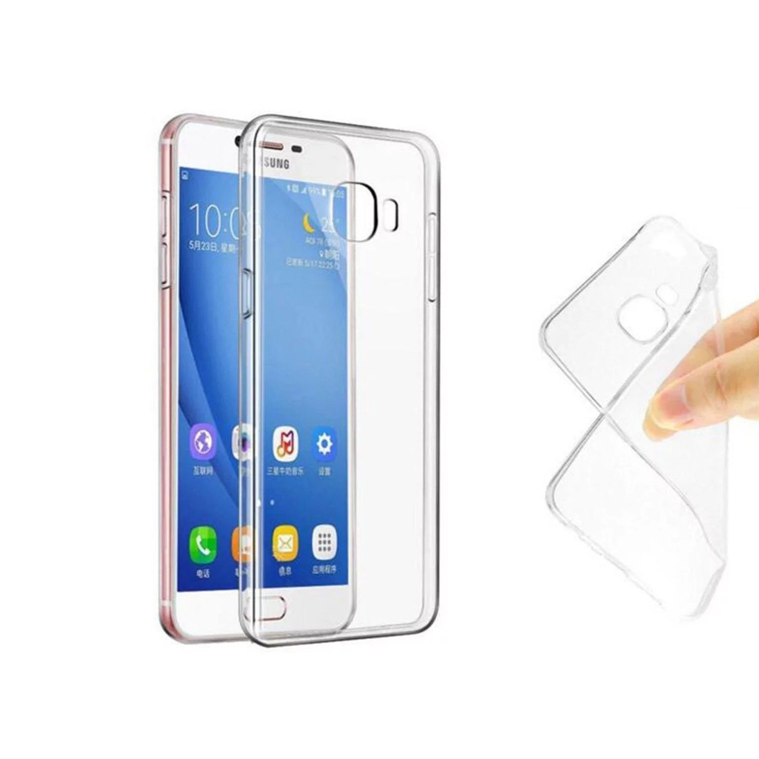 online store 18a8c 64c48 Lofad Case Samsung Galaxy On Nxt/J7 Prime/On7 Prime Case Ultra Thin  Transparent Soft Gel TPU Silicone Case Cover for Samsung Galaxy On Nxt/J7  Prime/On ...