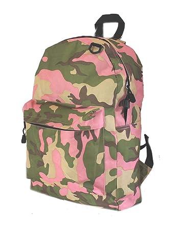 Amazon.com: Pink Camo Backpack Book School Bag Napsack: Sports ...