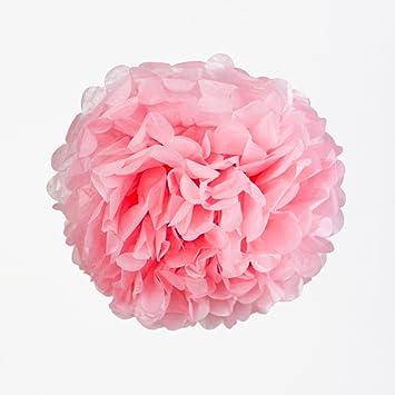 Amazon Com Pink Tissue Paper Wedding Flower Pom Poms 10 3 Pack