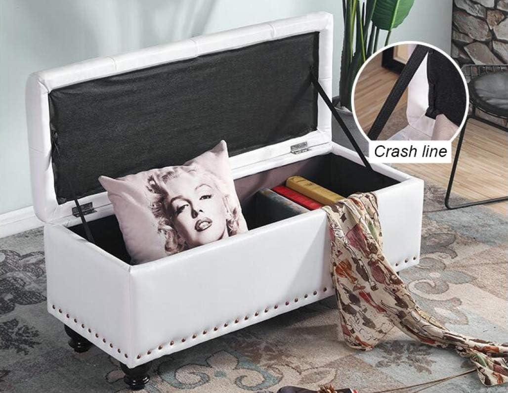 DPPAN 31 inch Sitzwürfel Sitzbank Sitzhocker Fußhocker Aufbewahrungsbox Fußbank mit Stauraum für Schlafzimmer Wohnzimmer Flur, 137L, Max Last 150 kg / 330 lbs,Orange Blue