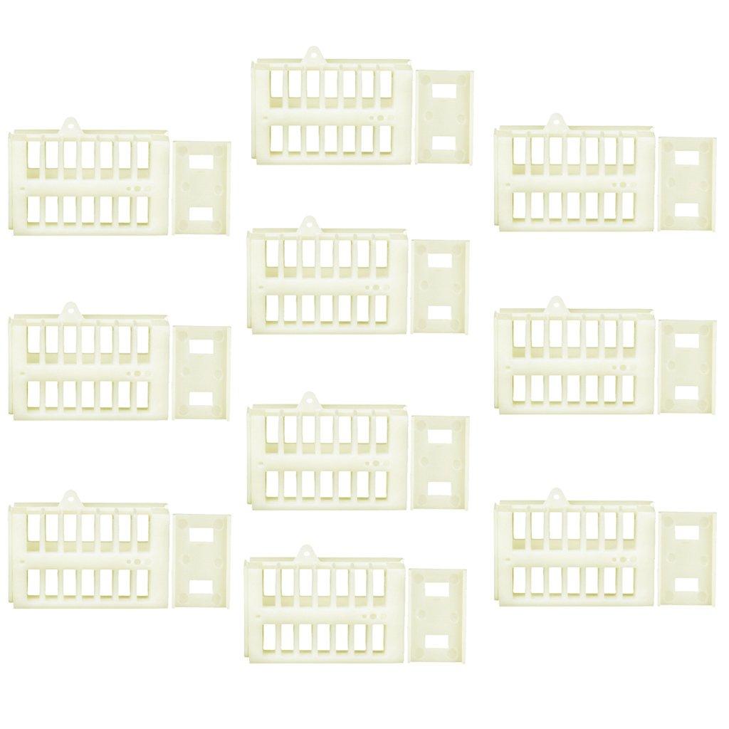 Sharplace Equipo ap/ícola 10pcs Abeja Reina Jaula Funcional Caja De Cerillas En Movimiento Receptor Herramienta Apicultura Jaula Herramientas