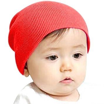 5e94def2ad45 Amazon.com  FEITONG Fashion Sweet Beanie Winter Warm Baby Kids Boys ...