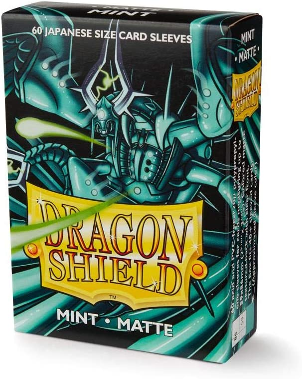 60 DRAGON SHIELD MINT MATTE JAPANESE Card Sleeves Mini Deck Protector yugioh tcg