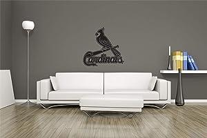 Turnya MLB Logo St Louis Cardinals Baseball Team Sign Wall Decor Vinyl Sticker Decal Wall Art