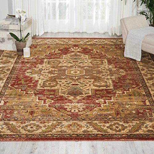 Nourison Delano DEL05 Traditional Oriental Persian Brick (Red) Area Rug,  6'7