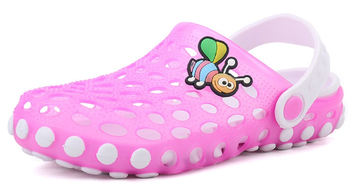 Beeagle Kid's Cute Garden Shoes Cartoon Slides Sandals Clogs Children Beach Slipper Pink 31-32