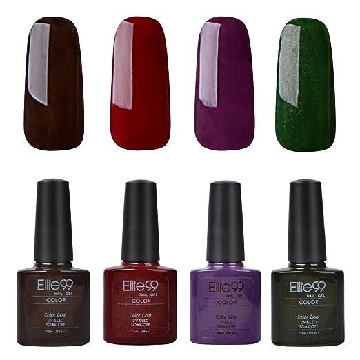 309 opinioni per Elite99 Smalto Semipermanente UV LED Colore Gel Ricostruzione Unghie Arte Serie