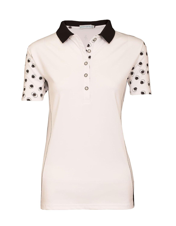 Verde cordero Caroline blanco/negro Ladies Golf Polo, color blanco ...