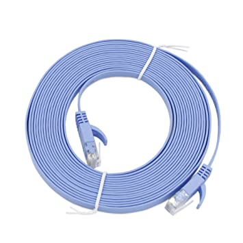 CAT6 10M 33ft RJ45 Ethernet Network LAN Cable Flat UTP Patch Router Cable Blue