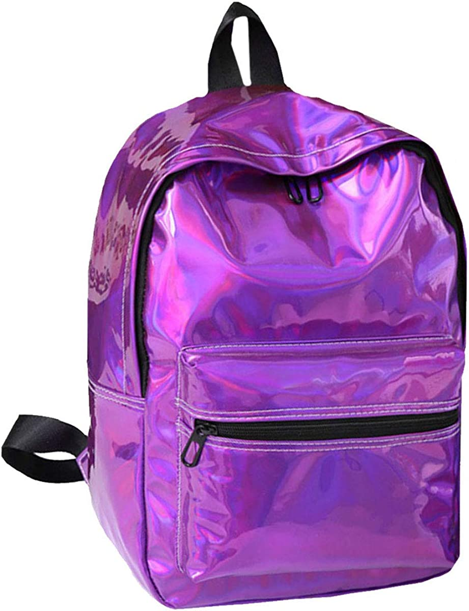 Ships From US-Mily Hologram Laser PU Backpack