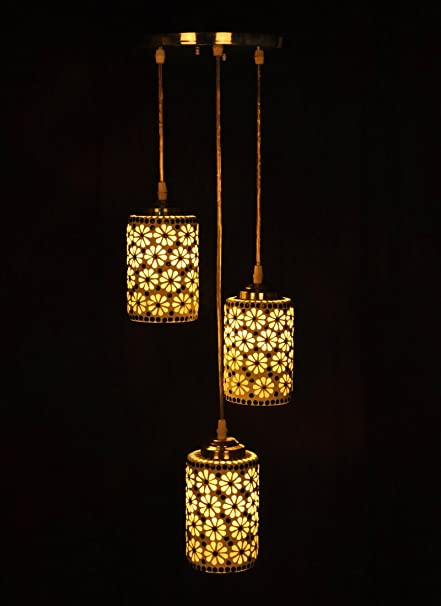 Gojeeva Decorative Glass Chandelier (Multicolour) Chandeliers at amazon