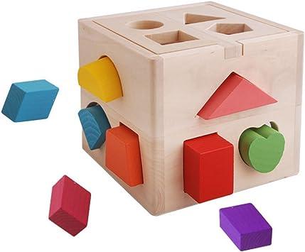 Holzspiel Geometrische Formen Motorikspielzeug Bausteine