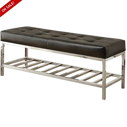 Modern Dining Bench Seat Backless Welcome Home Decorative Stylish Furniture  Entryway Indoor Room Entry Foyer Padded