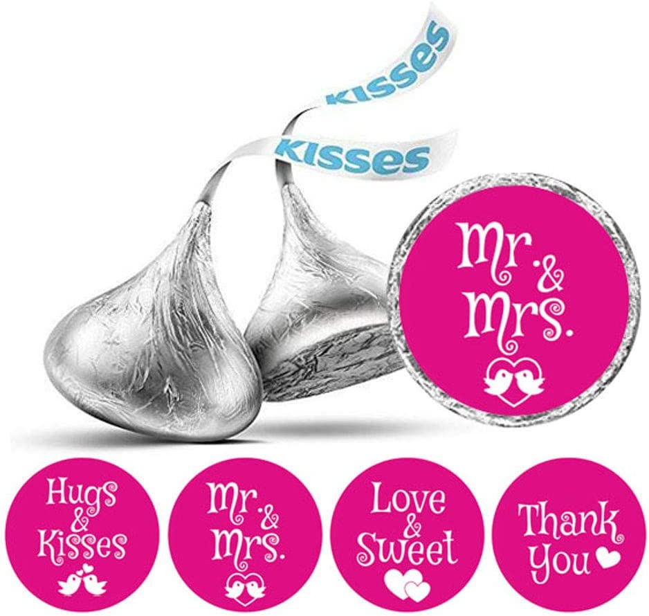 Darling Souvenir Hersheys Kisses Candy Labels Wedding Stickers Pack of 190 Pcs Party Favor-Navy Blue