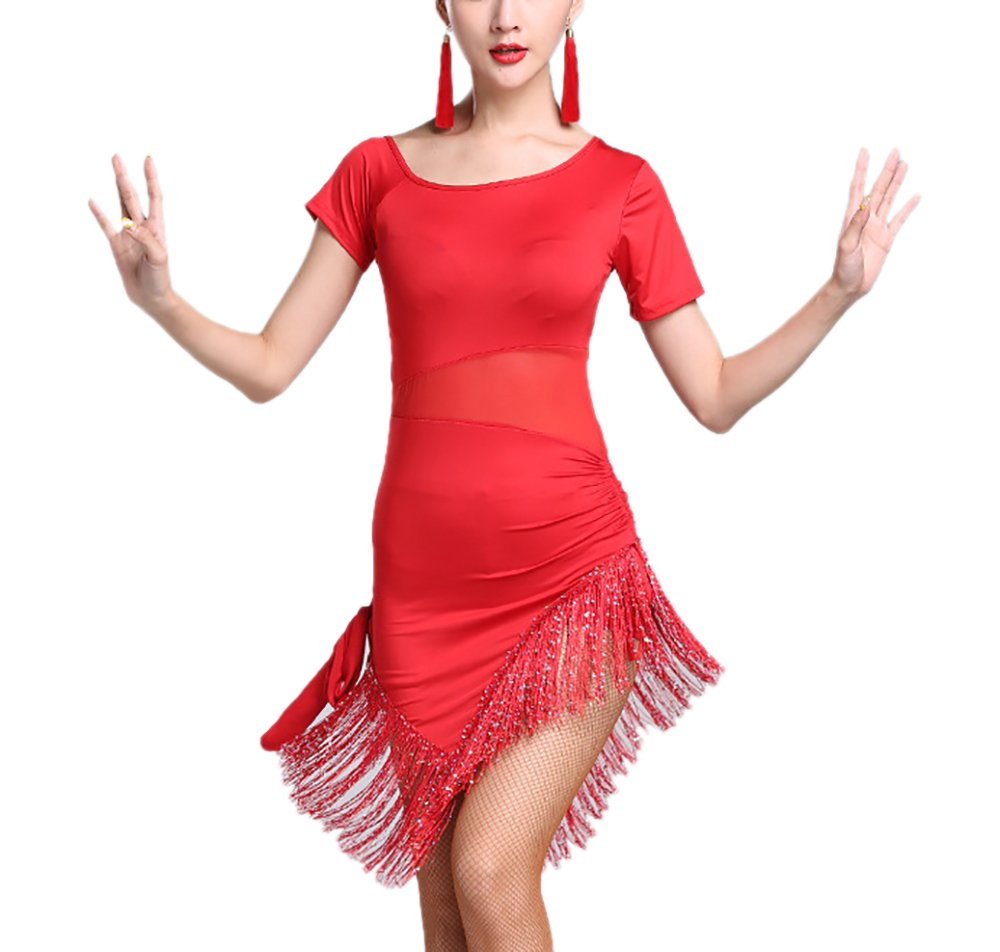 Cha Cha Ballroom Dancer Dance Performance Costumes Outfit Dresses for Annual Day by Whitewed