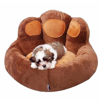 JiaYue Productos para Mascotas Terciopelo oso Pata Cama de Perro Transpirable a Prueba de Agua,