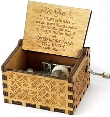 Freudlich 《You Are My Sunshine》 Cajas de música de Madera, Caja Musical de Madera Vintage grabada con láser Regalos para cumpleaños/Navidad/día de San Valentín (Mom to Sun): Amazon.es: Hogar