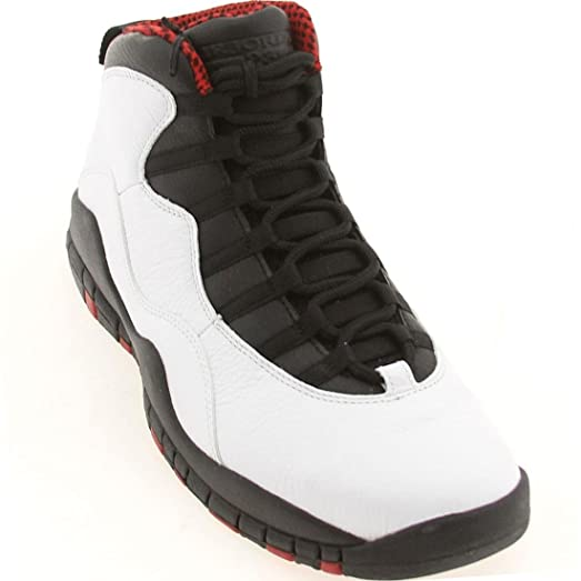 9675c7fcd550 ... spain nike mens air jordan retro 10quot chicago white varsityred black  leather basketball shoes 84c5b efcdb