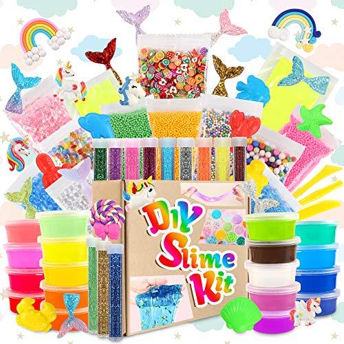 3 otters 73PCS Slime Kits, Slime Making Kit Unicorn Slime Kit for Girls Boys