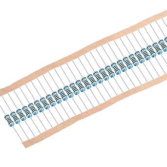 0.25 Watt /±1/% Tolerance Metal Film Fixed Resistor EDGELEC 100pcs 2.4K ohm Resistor 1//4w