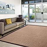 casa-pura-Amazonas-100-Natural-Sisal-Runner-with-Cotton-Border-Cork-Non-Slip-Latex-Backing-3-Sizes-2-Colors