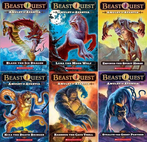 Price comparison product image Beast Quest: Amulet of Avantia Box Set: 6 Books Plus Panther Dog Tag (Beast Quest: Amulet of Avantia,  Includes: Nixa the Death Bringer,  Equinus the Spirit Horse,  Rashouk the Cave Troll,  Luna the Moon Wolf,  Blaze the Ice Dragon,  and Stealth the Ghost Panther.)