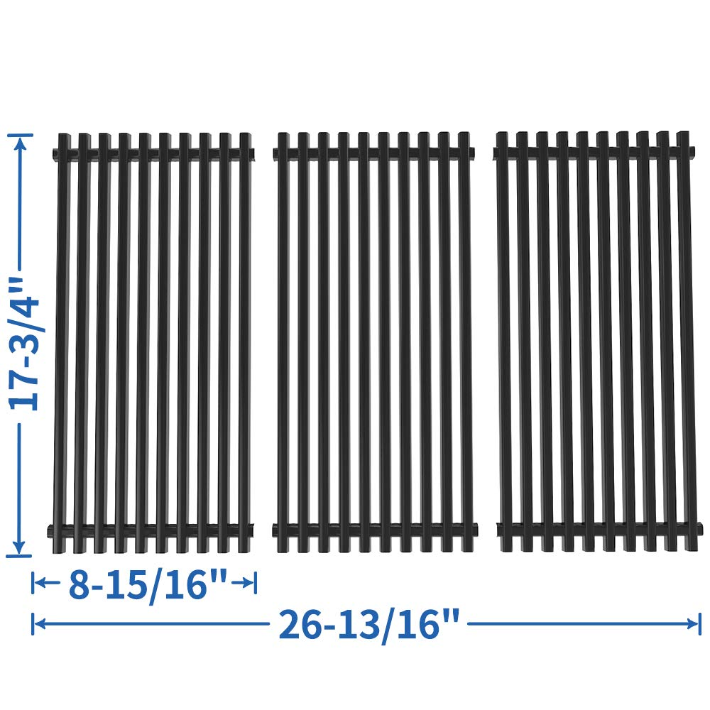 SHINESTAR Grill Grates Replacement for Brinkmann 810-2512-S Grates, 810-2511-S, 810-2410-S, 810-8411-5, 810-9415-W Grill Parts, Porcelain-Enameled Steel 17-3/4 x 26-13/16 inch Cooking Grate (SS-KW001) by SHINESTAR