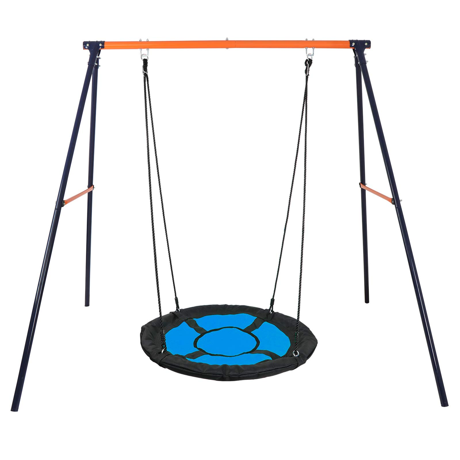 SUPER DEAL Swing Set, Swing + Stand Combo (Blue, XXL)