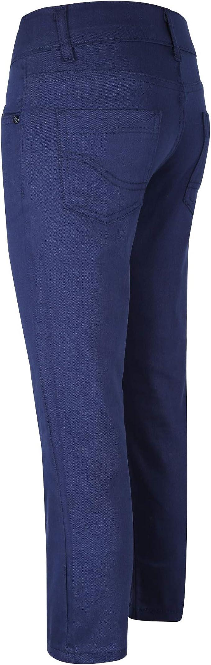 Pantaloni Chino Casual da Bambino in Blu Marina Blu Scuro Borgogna e Nero