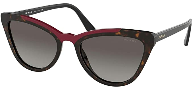 Prada 0PR 01VS Gafas de sol, Havana/Red, 56 para Mujer ...