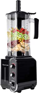 WantJoin Countertop Blender, Professional High-Speed Blender with 3 Pre-Programmed Settings, 1800W Base, 52oz BPA-free Tritan Jar for Family/ Commercial Size Ice Crush, Shakes and Smoothies, Built-in Pulse & 10-Speeds Control with Timer