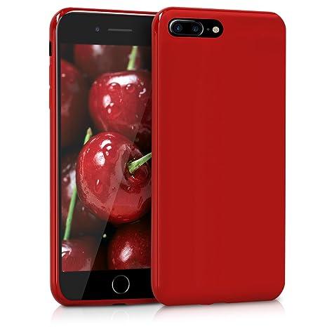 coque iphone 8 plus silicone rouge apple