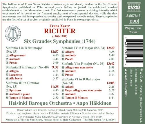 Richter: Six Grandes Symphonies