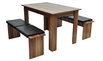 esszimmer st hle und bank m belideen. Black Bedroom Furniture Sets. Home Design Ideas