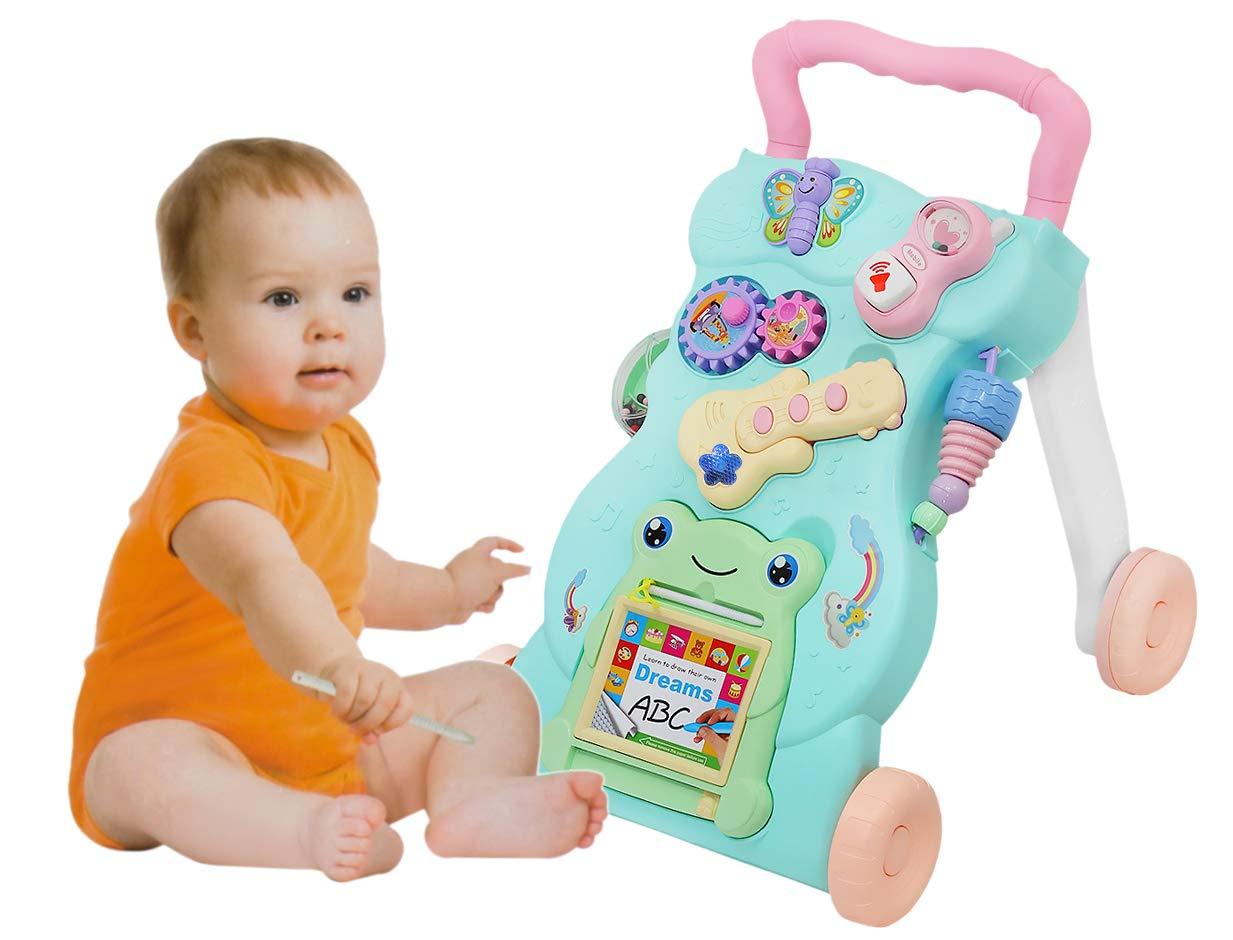 MALATEC Andador de bebé Interactivo - Rana Feliz empujador Tinta ...