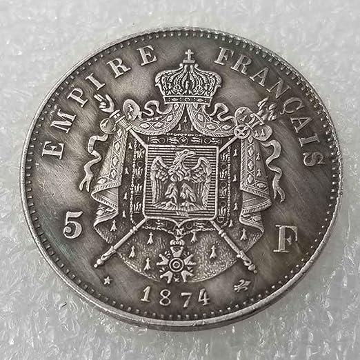 YunBest Best monedas de plata – 1874 moneda conmemorativa de Napoleón francés, colección de monedas antiguas, dólar de plata francesa, dólar viejo morgan – plata chapada en BestShop: Amazon.es: Hogar
