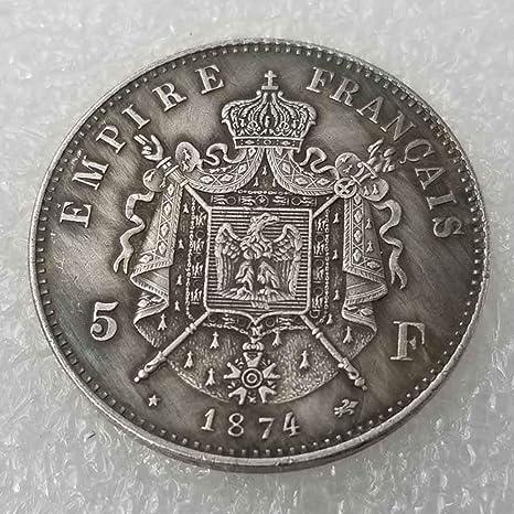 YunBest Best Monedas de Plata - 1874 Moneda Conmemorativa de ...