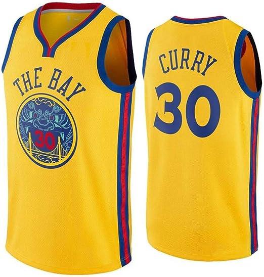 NBA Camisetas De Baloncesto para Hombre - NBA Warriors Stephen Curry # 30 Kawhi Leonard Swingman Edition Jersey De Malla Chaleco Deportivo Camiseta Sin Mangas,Yellow-M: Amazon.es: Hogar